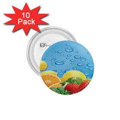 Fruit Water Bubble Lime Blue 1 75  Buttons (10 Pack)