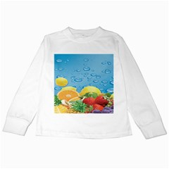 Fruit Water Bubble Lime Blue Kids Long Sleeve T Shirts