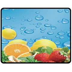 Fruit Water Bubble Lime Blue Fleece Blanket (medium)
