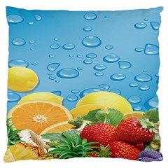 Fruit Water Bubble Lime Blue Large Cushion Case (two Sides)