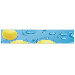 Fruit Water Bubble Lime Blue Flano Scarf (large)
