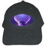 Lines Lights Space Blue Purple Black Cap Front