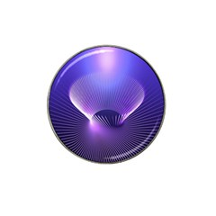 Lines Lights Space Blue Purple Hat Clip Ball Marker (4 Pack)