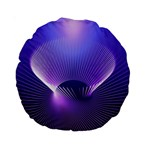 Lines Lights Space Blue Purple Standard 15  Premium Round Cushions Front