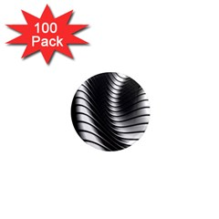 Metallic Waves 1  Mini Magnets (100 Pack)