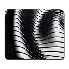 Metallic Waves Large Mousepads