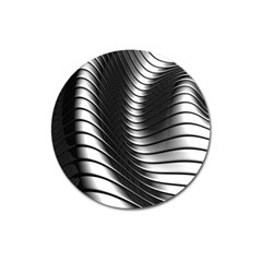 Metallic Waves Magnet 3  (round)