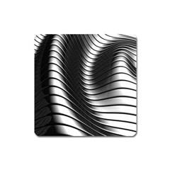 Metallic Waves Square Magnet