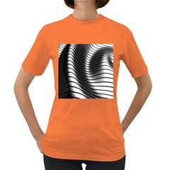 Metallic Waves Women s Dark T Shirt