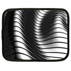 Metallic Waves Netbook Case (large)