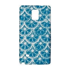 Lime Blue Star Circle Samsung Galaxy Note 4 Hardshell Case