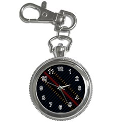 Material Design Stripes Line Red Blue Yellow Black Key Chain Watches