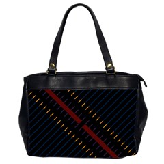 Material Design Stripes Line Red Blue Yellow Black Office Handbags (2 Sides)