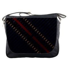 Material Design Stripes Line Red Blue Yellow Black Messenger Bags