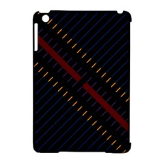 Material Design Stripes Line Red Blue Yellow Black Apple Ipad Mini Hardshell Case (compatible With Smart Cover)