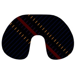 Material Design Stripes Line Red Blue Yellow Black Travel Neck Pillows