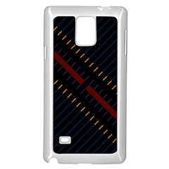 Material Design Stripes Line Red Blue Yellow Black Samsung Galaxy Note 4 Case (white)