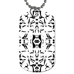 Nums Seamless Tile Mirror Dog Tag (two Sides)
