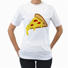 Pasta Salad Pizza Cheese Women s T Shirt (white) (two Sided)