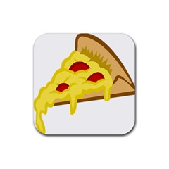 Pasta Salad Pizza Cheese Rubber Square Coaster (4 Pack)
