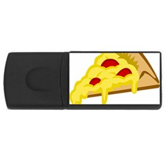 Pasta Salad Pizza Cheese Usb Flash Drive Rectangular (4 Gb)