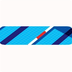 Minimal Swim Blue Illustration Pool Large Bar Mats