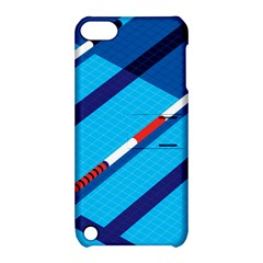 Minimal Swim Blue Illustration Pool Apple Ipod Touch 5 Hardshell Case With Stand