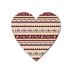 Pattern Tribal Triangle Heart Magnet