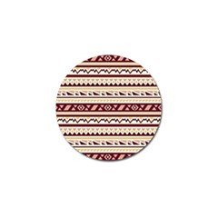Pattern Tribal Triangle Golf Ball Marker (4 Pack)