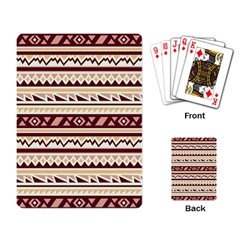 Pattern Tribal Triangle Playing Card