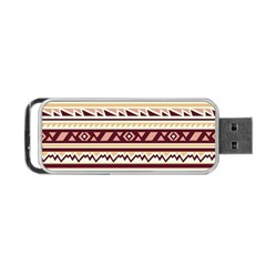 Pattern Tribal Triangle Portable Usb Flash (two Sides)