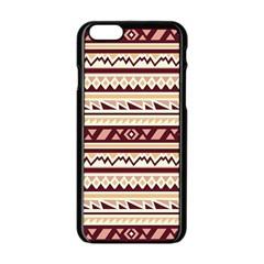 Pattern Tribal Triangle Apple Iphone 6/6s Black Enamel Case