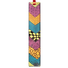 Painted Chevron Pattern Wave Rainbow Color Large Book Marks