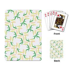 Patterns Boomerang Line Chevron Green Orange Yellow Playing Card