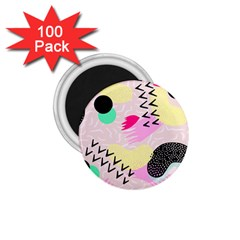 Pink Circle Red Pattern,sexy 1 75  Magnets (100 Pack)
