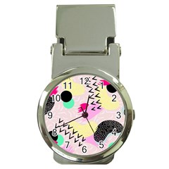 Pink Circle Red Pattern,sexy Money Clip Watches