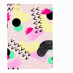 Pink Circle Red Pattern,sexy Small Garden Flag (two Sides)