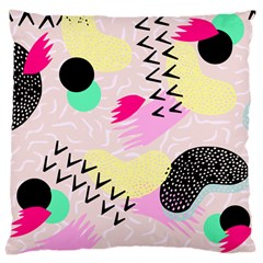 Pink Circle Red Pattern,sexy Large Cushion Case (one Side)