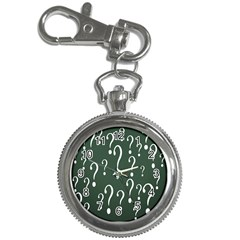 Question Mark White Green Think Key Chain Watches