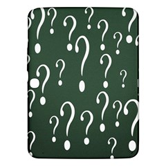 Question Mark White Green Think Samsung Galaxy Tab 3 (10 1 ) P5200 Hardshell Case