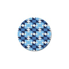 Radiating Star Repeat Blue Golf Ball Marker