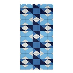 Radiating Star Repeat Blue Shower Curtain 36  X 72  (stall)
