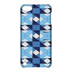 Radiating Star Repeat Blue Apple Ipod Touch 5 Hardshell Case With Stand