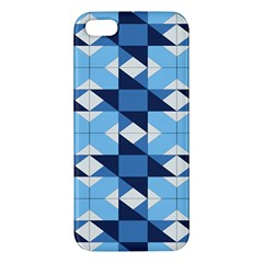 Radiating Star Repeat Blue Apple Iphone 5 Premium Hardshell Case