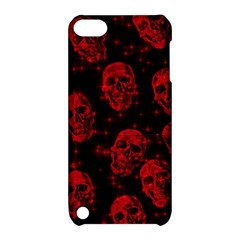 Sparkling Glitter Skulls Red Apple Ipod Touch 5 Hardshell Case With Stand