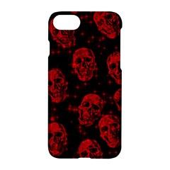 Sparkling Glitter Skulls Red Apple Iphone 7 Hardshell Case