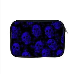 Sparkling Glitter Skulls Blue Apple Macbook Pro 15  Zipper Case