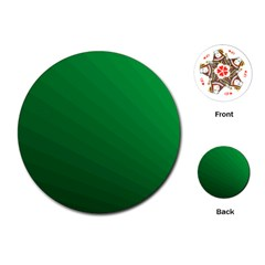 Green Beach Fractal Backdrop Background Playing Cards (Round)