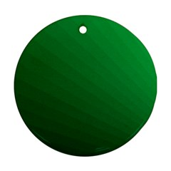 Green Beach Fractal Backdrop Background Round Ornament (Two Sides)