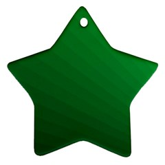Green Beach Fractal Backdrop Background Star Ornament (two Sides)